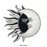 Yin Yang Sun Moon Cats Embroidered Patch Iron on Sew On Badge For Clothes etc