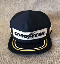 VINTAGE GOODYEAR 2 STRIPE EMBROIDERED TIRE ADVERTISEMENT SNAPBACK HAT