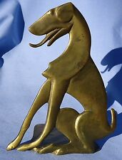 ART DECO GREYHOUND DOG BRONZE BOOKEND 7""
