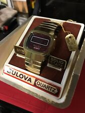 Bulova Red LED / Late 1970's / Like New In Original Case With Price Tags/