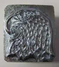 """Vtg Craftool EAGLE HEAD RIGHT Stamp 8344 Leather Crafting Tool 1"""" DISCONTINUED"""