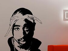 2pac Wall Sticker Tupac Vinyl Decal Famous Character Art Room Hip-Hop Decor 3tpa