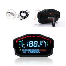 Motorcycle Bike ATV LCD Speedometer Digital Odometer Water Temp Oil Level Gauge