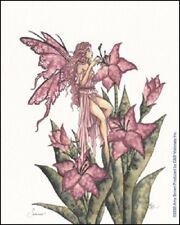 Amy Brown Sticker Decal Fairy Faery Summer flower petal garden fantasy art pink