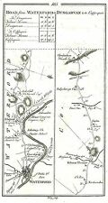 Antique map, Roads from Waterford to Cappoquin, Carrick to Kilmac Thomas