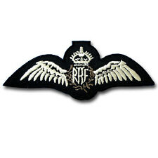 British RAF King's Crown Cap Patch Iron On Army Badge Royal Air Force Sew Wings