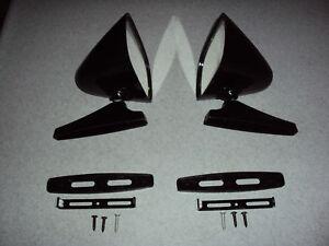 BLACK Sport Mirror (2)  Door BUICK PONTIAC OLDSMOBILE GM CHEVROLET CHEVY
