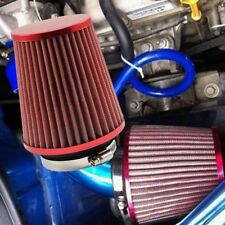 3inch 75mm Car Air Filter Clean Intake High Flow Short RAM / COLD Round Cone Red