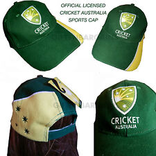 Licensed Cricket Australia Cap Green Yellow Sport Fan Hat Men Fathers Day Gift