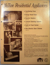 Vtg NUTONE  Residential Appliances Catalog RETRO Door Chimes Fans Heaters 1972
