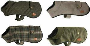 Ancol Heritage Dog Coat, Quilted Blanket, Wax, Green Check, Herringbone, Vari...