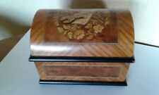 VINTAGE  MARQUETRY INLAID SWISS MAPSA  MUSICAL BOX