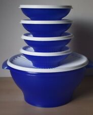 Tupperware Servalier Cereal Salad  Bowl Container 4-2Cup, 1-17 Cup New