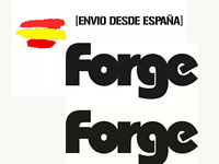 Vinilo de corte pegatina valvula de descarga forge 12CM X 6 CM sticker decal x2