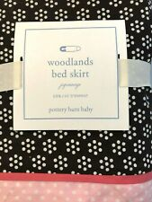 Pottery Barn Baby, Woodlands Crib Skirt, Pink and Brown, NWT, Jupponage