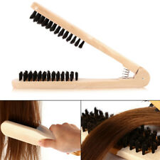 Quality V Type Comb Anti Static Hair Care Wood Hairdressing Comb Double Brush