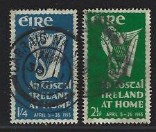"1953 Ireland Scott #147-148 (SG #154-155) - ""An Tostal"" Irish Festival - Used"