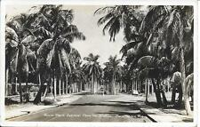 Royal Palm Avenue from the Bridge Palm Beach FL real photo postally used in 1949