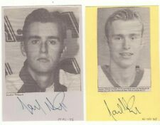 New listing LOT OF 2 JOCELYN THIBAULT EARLY SIGNED QUEBEC NORDIQUES PHOTOS NHL AUTOGRAPH
