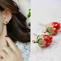 Mini  Ear Earrings Strawberry Women Cute Stud Johnson Girls Betsey Enamel Studs