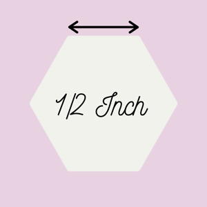 """1/2"""" Inch Hexagon English Paper Pieces Templates EPP Patchwork Cardstock"""