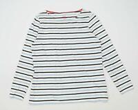 Boden Womens Size 16 Striped Cotton Blue Long Sleeve T-Shirt (Regular)