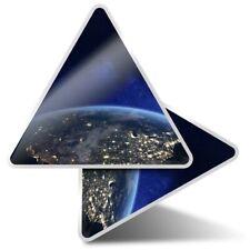 2 x Triangle Stickers 10 cm - USA East Coast America Earth  #2242