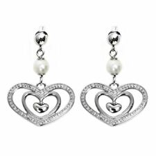 Purity Of Heart Earrings w White Pearl Stainless Steel Women Jewelry By Controse