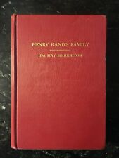 Henry Rand's Family by Ida May Broughton, inscribed first edition. Rare.