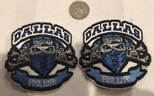"""(2)-Dallas Cowboys vintage embroidered iron  on logo patches  3""""x 3"""" Awesome!!"""