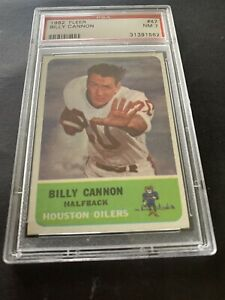1962 Fleer Football #47 Billy Cannon PSA 7 POP 16 Heisman Oilers LSU AFL