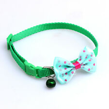 Bowknot Adjustable Leather Dog Puppy Pet Cat Collars Necklace Neck Lace