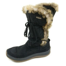 Pajar Winter Boots Womens US 7 7.5 EUR 38 Mid Calf Fur Lined Black