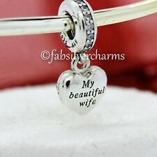 New / Tag Authentic Pandora My Beautiful Wife Locket 791524CZ Love Heart Dangle