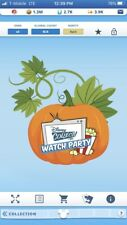 disney collect topps digital Halloween Watch Party tokens X5