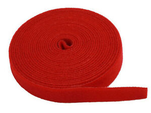 """NEW FASTENING TAPE HOOK & LOOP - 3/4"""" X 5 yard Roll- RED - lOWER PRICES"""