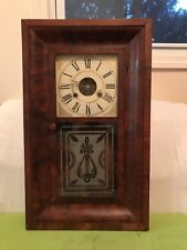 Gorgeous and Rare Terry&Andrews O.G. 30 hours shelf or wall Clock cira 1845's