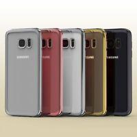 Samsung Galaxy S7 Hülle Spiegelrand klar Slim Cover Tasche Back Case Etui