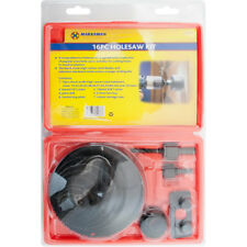 New 16PC HOLE SAW CUTTING SET 19-127MM WOOD CARBON STEEL CUTTER CIRCULAR ROUND