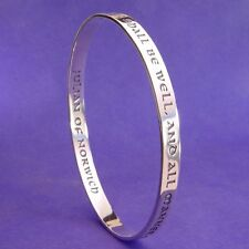 All Shall Be Well Bracelet Bangle Inspiration Religious STERLING SILVER Norwich