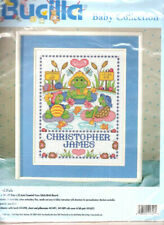 Pond Pals Frogs Bucilla Baby Collection LARGE Counted Cross Stitch Kit FREE P&P