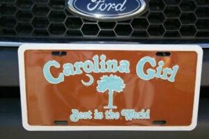 "South Carolina Girl SC Brown & Blue 6""x12"" Aluminum License Plate Sign"
