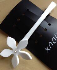 Un pasador de Cabello Clip De Diseño De Flores Blanco