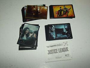 Lot de 98 stickers Panini - Justice League - avec doubles.