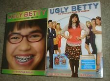 UGLY BETTY THE COMPLETE FIRST & SECOND SEASONS DVD BOX SETS, NEW AND SEALED