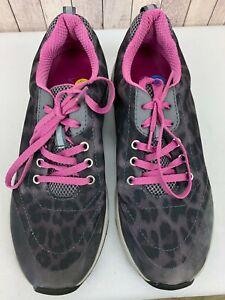 Vionic 335 Tourney Women's Gray Pink Leopard Print Running Shoes US 7 / EU 38