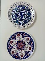 2 Piatto piatti ceramica dipinti GRECIA Dakas Faliraki Rhodes Rodi Greece