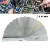 32 Blade Feeler Gauge Dual Reading Feeler Gauge Metric Imperial Gap Measure Tool