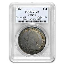 1803 Draped Bust Dollar VF-20 PCGS (Large 3)