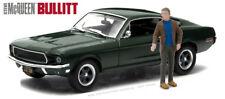 Greenlight 1:43 1968 Ford Mustang GT Fastback Steve McQueen Figure Bullitt 86433